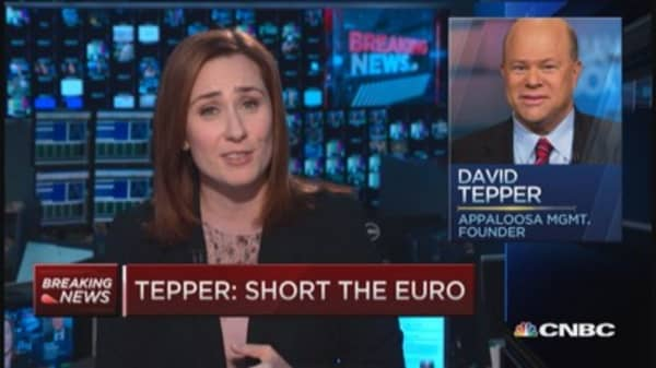 Tepper: Short the euro