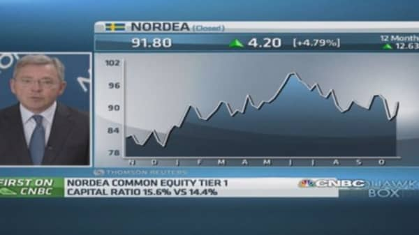 Europe's 'economic momentum lagging': Nordea CEO