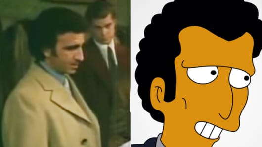 "Frank Sivero in ""Goodfellas"" and Louie from the ""Simpsons"""