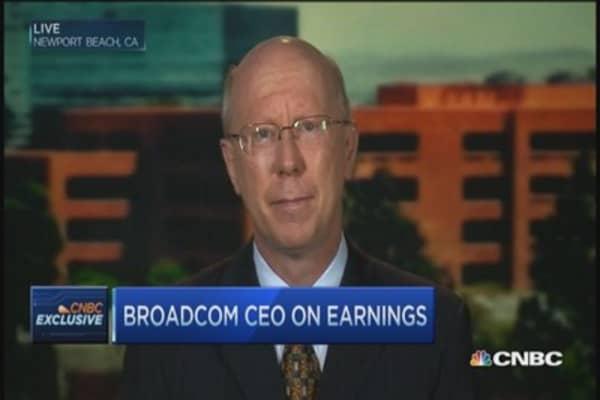 Broadcom CEO talks good quarter