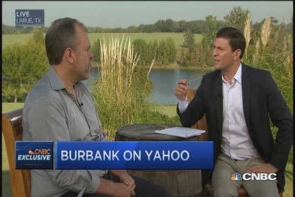 Yahoo stock undervalued: Burbank