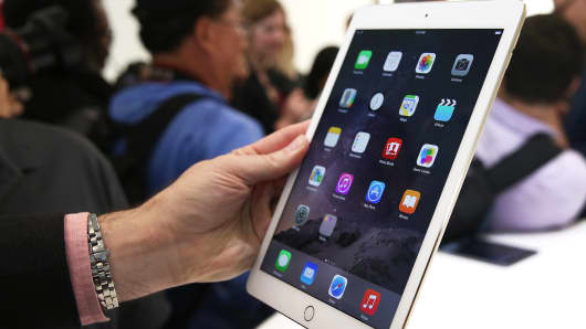 An Apple iPad Air 2