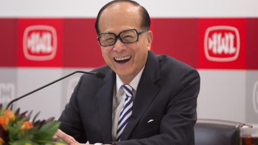 Billionaire Li Ka-shing, chairman of Cheung Kong (Holdings) Ltd. and Hutchison Whampoa Ltd..
