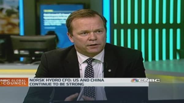 China 'stronger than expected': Norsk Hydro CFO