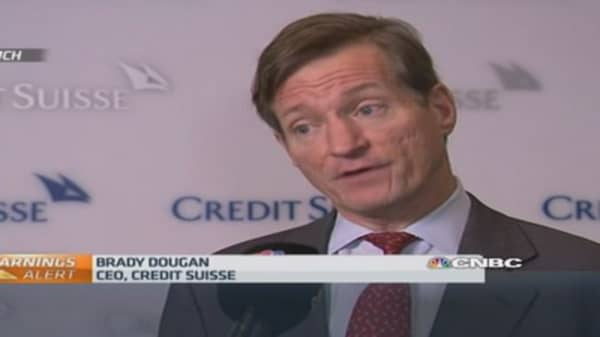 Volatility having 'mixed' impact: Credit Suisse CEO
