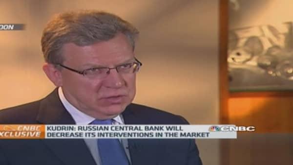 Russia central bank won't intervene in ruble: ex-Fin Min