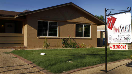File photo of a home for sale in Phoenix, Arizona.