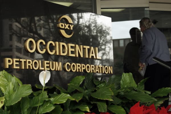 The Occidental Petroleum headquarters in Los Angeles.