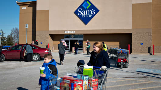 A Sam's Club store in Peoria, Illinois.