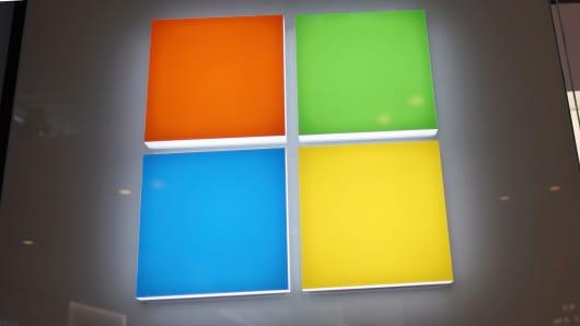 Microsoft store signage