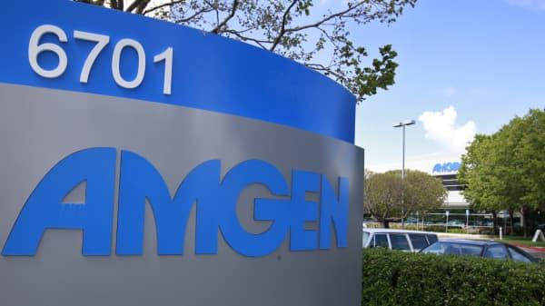 Amgen offices in Fremont, Calif.