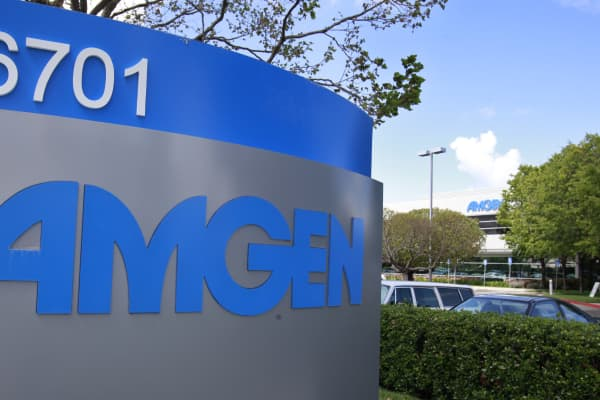 Amgen offices in Fremont, Calif.