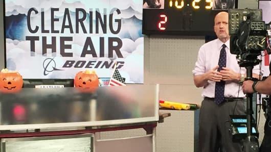 Jim Cramer on set of Mad Money