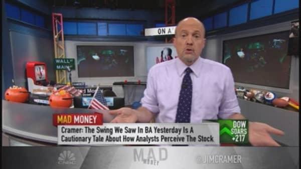 Cramer investigates Boeing's swing