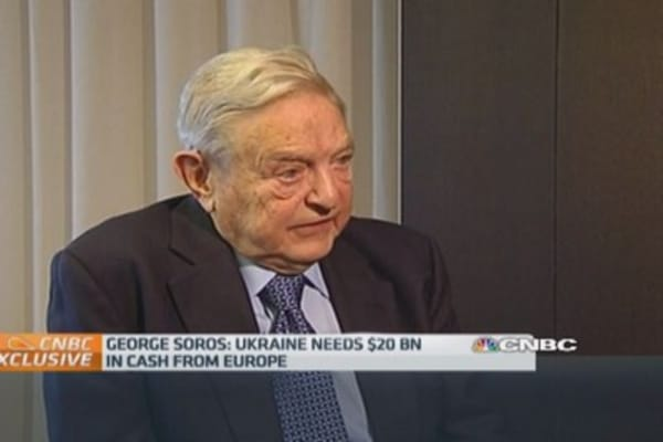 EU needs to 'get its act together' on Ukraine: Soros