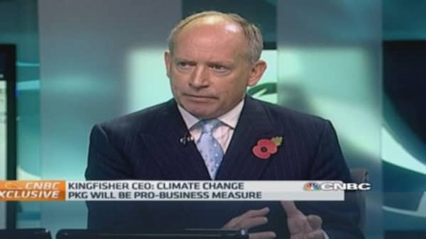 Climate goals 'good for Europe': Kingfisher CEO