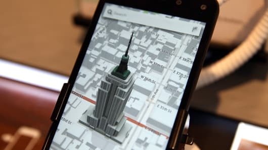 Amazon fire smartphone with maps app