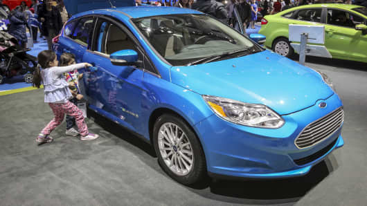 The Ford Focus electric.