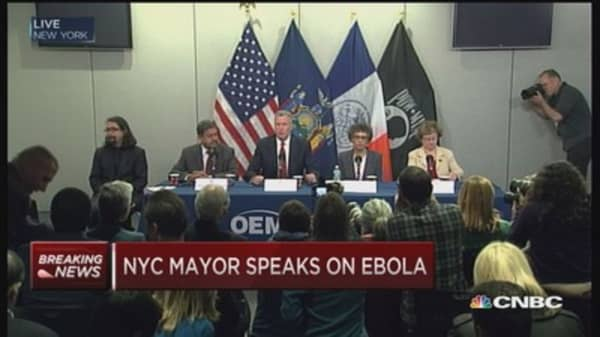 NYC Mayor on Ebola: No cause for alarm
