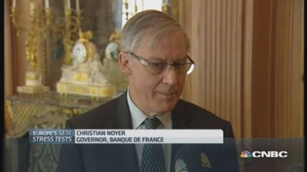 Stress tests will 'restore confidence': Bank of France head