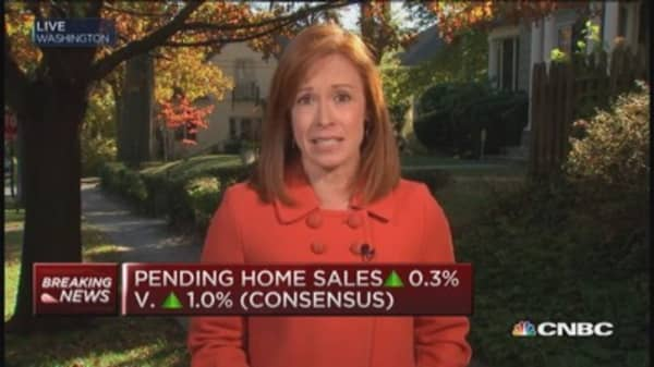 Pending home sales miss