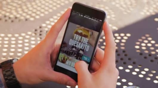 Still image from Taco Bell mobile app video