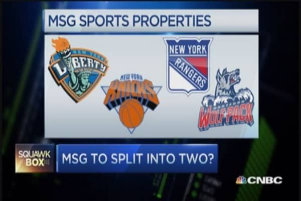 MSG considers spin-off