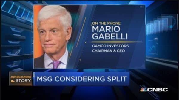Gabelli on possible MSG split