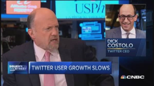 Cramer: Twitter's Costolo incoherent