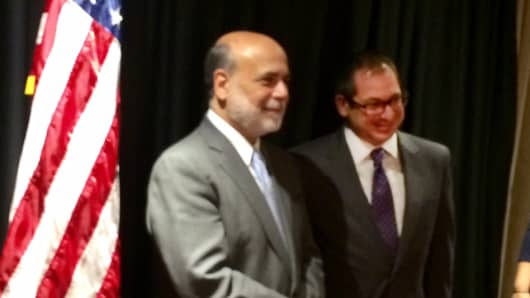 Financial advisor Mitch Goldberg and former Federal Reserve chairman Ben Bernanke