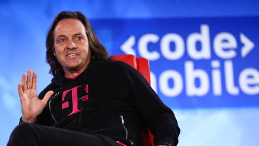 John Legere, CEO of T-Mobile at Code Mobile.
