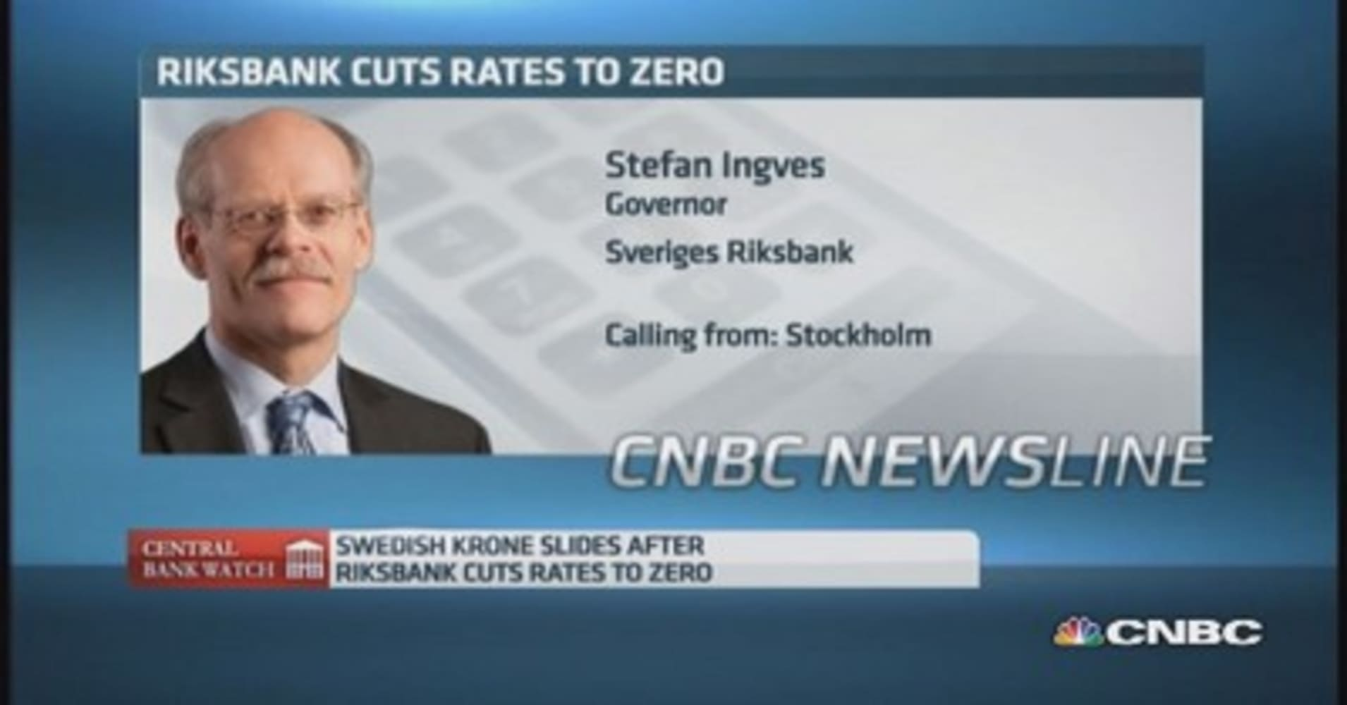 Image result for Riksbank runs Sweden, says Stefan Ingves