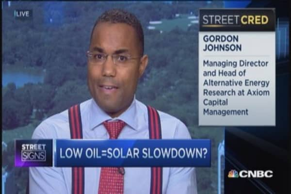 Low oil = solar slowdown?