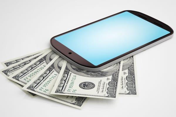 Mobile phone cash
