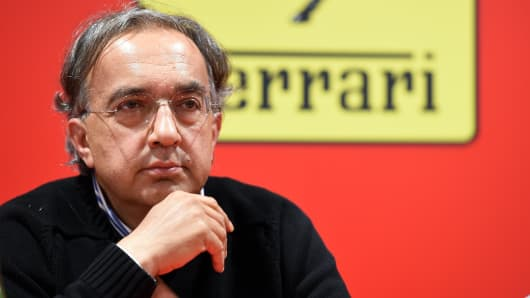 CEO of FIAT and CEO of Chrysler Sergio Marchionne attends the Ferrari Press Conference on September 10, 2014 in Maranello, Italy.