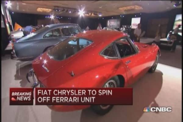 Fiat Chrysler to spin off Ferrari: Report