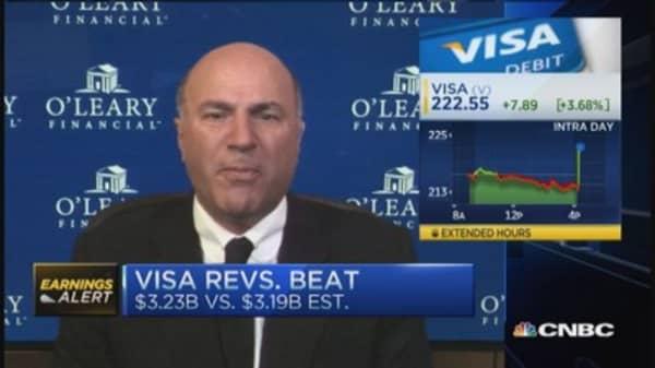 'Shark' O'Leary 'licking his chops' on Visa earnings