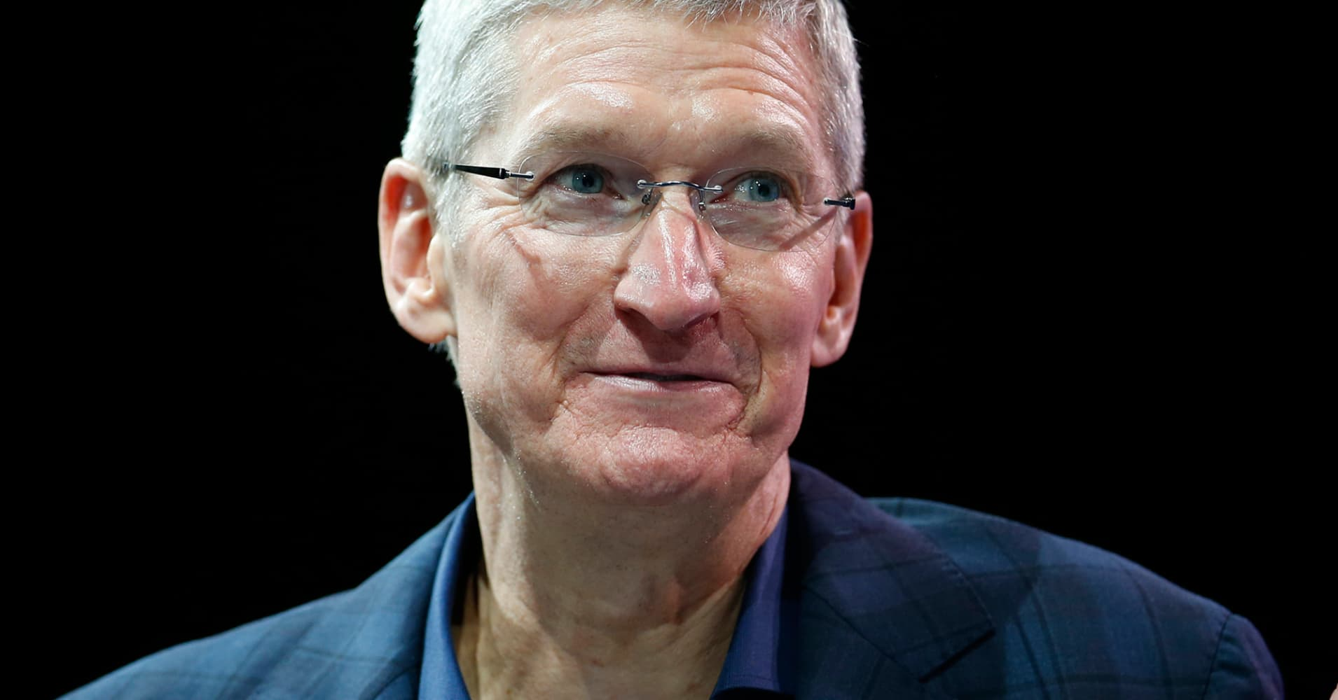 Apple CEO Tim Cook speaks at a conference in Laguna Beach, Calif., October 27, 2014.