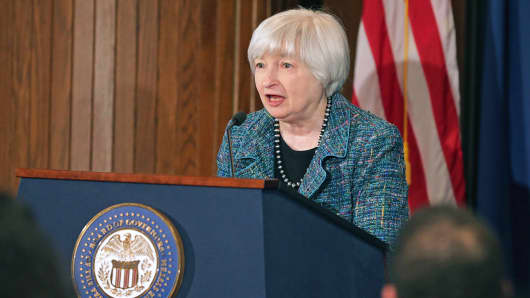 Federal Reserve Chair Janet Yellen delivers opening remarks at the National Summit on Diversity in the Economics Profession hosted by the Federal Reserve, Oct. 30, 2014, in Washington.