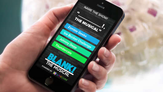 """Blank! The Musical"" app"