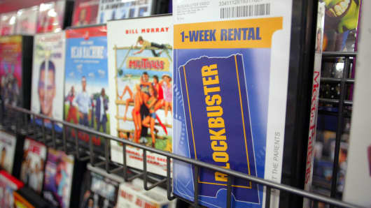Blockbuster video case, bankrupt business
