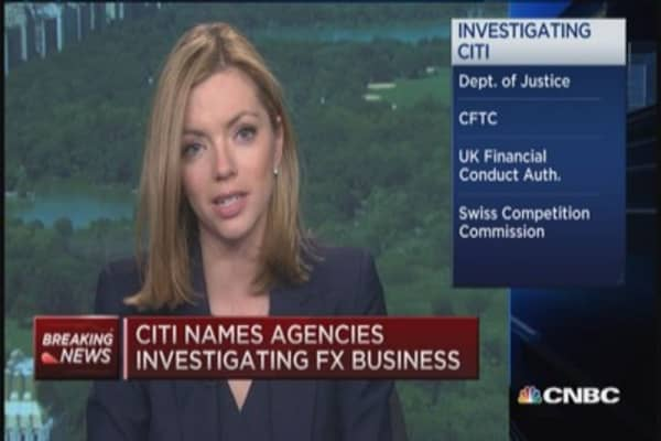 Citi names agencies investigating FX business