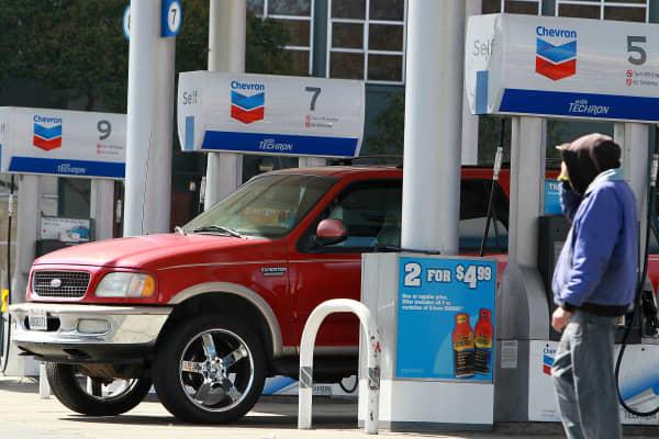 A Chevron gas station in San Francisco.
