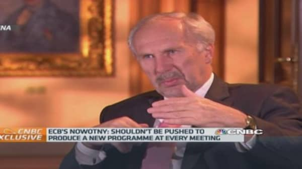 Europe can ¿never say never¿ to QE: Nowotny