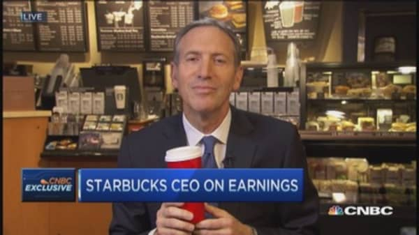Starbucks CEO: Trying to cannibalize ourselves