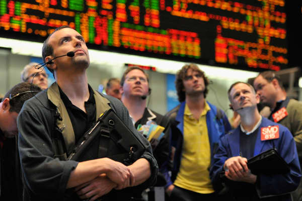 Bond traders at CME Group