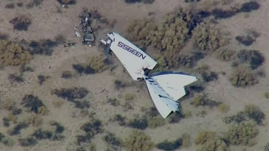 Debris from the Virgin Galactic flight