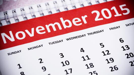 November 2015 calendar page