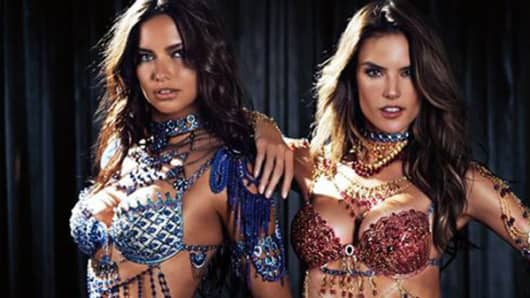 Victoria Secret 2014 Dream Angels Fantasy Bras, worn by Adriana Lima & Alessandra Ambrosio.