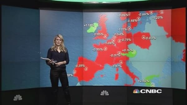 European indexes close lower